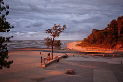 Dunes State Park, Indiana (Lynne Dohner) Tags: lake beach water colors weather waves dunes sunsets indiana lakemichigan beaches waving chesterton dunesstatepark the4elements lakemichiganindianadunesautumn