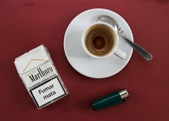 european dessert. (nosuchthing~) Tags: cup coffee dessert marlboro lighter cigaretttes