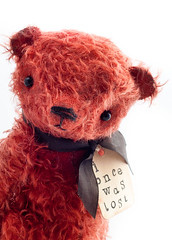 Little Red (The Vintage Magpie) Tags: bear red vintage teddybear whimsical shabby