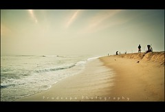 Early Morning at Marina beach (Pradeepa Pandiyan) Tags: beach shore marina chennai tamilnadu india chennaibeach morning water yellow waves marinabeach