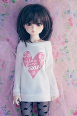 Slim MSD sweater - follow your heart (Cyristine) Tags: shirt ball asian sweater clothing dami doll slim heart handmade bjd msd jointed unoa elfdoll minifee