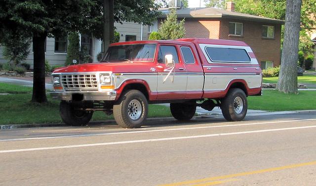 ford truck cherry nice shiny 4x4 pickup 1978 supercab madeinusa americanmade fourwheeldrive f250 fseries 34ton eyellgeteven