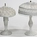 113. Pair of Antique Wicker Table Lamps