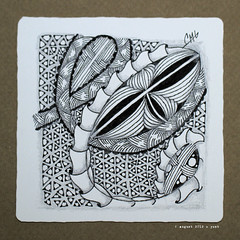scales (shebicycles) Tags: monochrome pen pencil tile square doodle zentangle
