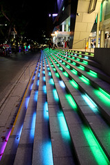 Singapore (Chris&Steve) Tags: architecture night lights arquitectura singapore asia stair pattern nightshot geometry architectural stairway repetition 2012 v400i