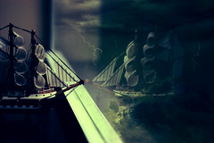 Imagination (Izzy Guttuso) Tags: storm window clouds sailboat photoshop toy 50mm boat florida surrealism dream surreal indoors dreamy inside lightning raid f18 youngphotographer tropicalstormisaac