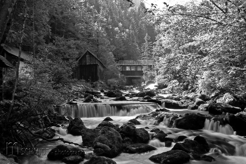 Entlang Der Pießling (Mampfred) Tags: White Black Berg Austria Mühle  österreich Wasser Wasserfall