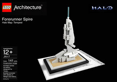 Forerunner Spire (Titolian) Tags: game video lego space halo spire future videogame forerunner architecturecontest