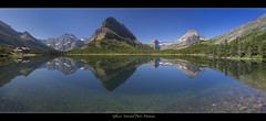 "Glacier National Park-Montana (Joalhi ""Back in Miami"") Tags: reflection hotel bravo montana glaciernationalpark swiftcurrentlake manyglacier mtgrinnell canon5dmarkiii coth5"