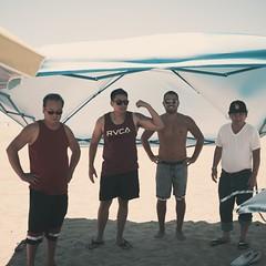 Manly Men (thedonuttinz) Tags: family sun man men film beach sunglasses tattoo fun long fuji guys bbq x filter shade volleyball 100 lb x100 rvca