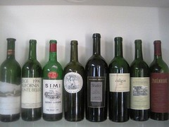 A few of the more interesting wines from dinner
