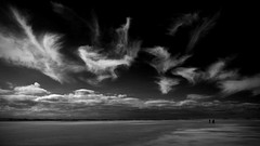 evidence of ghosts (Ray Byrne) Tags: blackandwhite bw beach clouds monotone northumberland ghosts ghostly northeast holyisland lindisfarne raybyrne byrneoutcouk webnorthcouk