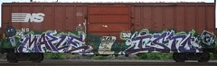 MAPLE ISTO (us301Retro) Tags: art train bench graffiti maple paint tag railcar boxcar bomb freight isto marze