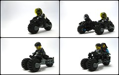 Cyberpunkin' (Exius_) Tags: male brick girl bike female race 1 pod punk lego version corporation motorbike elite trike motor tron corp v1 stud handlebars cyber cyberpunk handles racer adjustable exo podbike exius