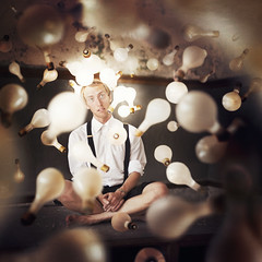 The Creation of Light (Rob Woodcox) Tags: light inspiration texture love spread detroit lightbulbs surreal floating levitation magical whimsical robwoodcox robwoodcoxphotography joelrobison