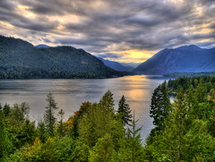 Lake Cushman Sunset (George Stenberg) Tags: sunset olympus lakecushman hoodcanal