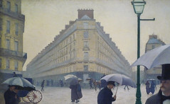 Gustave Caillebotte, Paris Street; Rainy Day, building