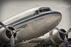 Dakota DC3 (David Turner LRPS) Tags: plane airplane aircraft duxford dc3 dakota