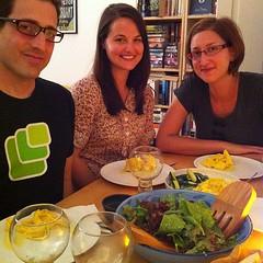 Dinner with @wordridden, @t and @erinjo.
