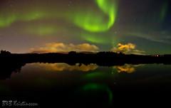 Night sky (B&B Kristinsson) Tags: reflection night iceland reykjavik auroraborealis northenlights elliðavatn