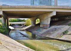 Haven (EvanR.) Tags: bridge urban toronto water river graffiti paint secret exploring sunny spot spray graff blogto torontoist d7000