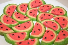 Watermelon cookies (Anastasia's Cakes) Tags: orange fruits cookies cake sushi desert chocolate barbie watermelon creamcheese