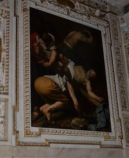 Crucifixion of St. Peter, Caravaggio, 1601, in...