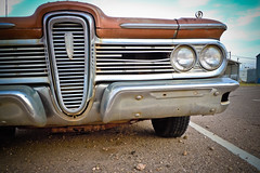 Old Edsel (ss | photog) Tags: old newmexico ford car digital photo route66 automobile edsel bumper chrome headlight villager 2011