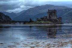 Eilean Donan ( explore ) (Angela-Midlothian needs sleep) Tags: family clouds sunrise kyle island grey highlands media arts eilean donan macrae lochalsh jacobite donnn