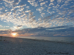 St. George Island Sunrise (snoopydoobiedog~) Tags: blue beach clouds sunrise landscape coast sand gulf florida scenic dramatic panasonic waterscape dmcfz35 dailynaturetnc12