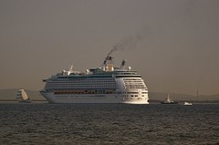 MS Voyager of the Seas (Matthias Harbers) Tags: city sunset sky people panorama ice water japan skyline clouds port photoshop tokyo evening abend harbor pier wasser sonnenuntergang view ships himmel wolken sigma terminal container stadt labs dxo odaiba daiba anleger hafen region schiff hdr kreuzfahrtschiff minato tokyobay topaz 50500mm 3xp  photomatix micorsoft containerships tonemapped ocean cruise royalcaribbeaninternational passagierschiff ship kant 816mm passenger d7000 tkywan liner msvoyageroftheseas voyagerclasscruiseship