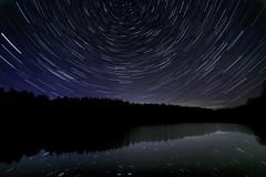 Star Reflection ([inFocus]) Tags: longexposure reflection canon stars lowlight long nightshot astro nighttime nightsky harrogate northyorkshire resevoir swinsty startrail 1635mm 1635mmf28lii nightafterdark 5dmkiii starstax