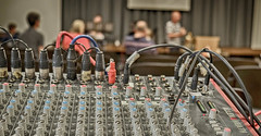977 of 1096 (Yr 3) - Mixer (Hi, I'm Tim Large) Tags: sound desk mixing mixer knobs button dials control controls volume tone treble bass cables wires pa sunday morning system church 365 366