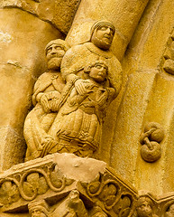 I Sant Josep al racó / Sidelining St. Joseph (SBA73) Tags: sculpture church interesting gate roman jesus iglesia kirche catalonia chiesa porta catalunya sagradafamilia romanesque fachada eglise priory façade cataluña romanic priorat holyfamily covet catalogna façana pallars románico katalonien catalogne pallarsjussà església santjosep porxada каталония カタルーニャ州 vergemaria 加泰罗尼亚 santamariadecovet