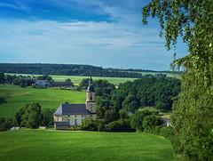 Dorfkirche (berndtolksdorf1) Tags: kirche landschaft landscape himmel wiesen felder outdoor deutschland thringen dhlen