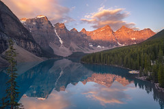 Moraine Dawn (romiana70) Tags: moraine lake louise banff national park alberta canada reflections calm valley ten peaks snow water sunrise glacial canadian rockies travel summer
