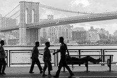 The Other Side (MarkL87) Tags: nyc newyorkcity brooklynbridge chinatown people bridge blackandwhite bw streetphotography