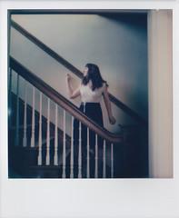 framed (Lisa Toboz) Tags: impossibleproject instantfilm color600 polaroid highlandpark pittsburgh selfportrait staircase frame