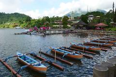 Bali, Indonesia (Cagsawa) Tags: bali indonesia asia balinese boat raft sail shore water mountain lx5 ulun danu beratan ulundanuberatan ulundanu temple watertemple garment outdoor