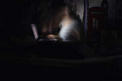 TV Addict (misa.stahlova) Tags: 365 365project day42 night indoor girl watching series addiction longexposure conceptual imaginative imagination selfportrait surreal portrait dark computer light