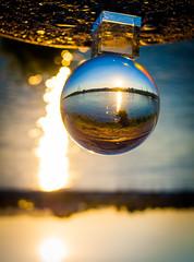_MG_0378-2 (AdamFejes) Tags: glass globe glassglobe pointofview light sun summer blackandwhite bw colour city budapest danube sunset