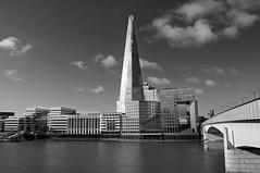 The Shard (D_Alexander) Tags: uk england london riverthames theshard londonbridge blackandwhitephotography