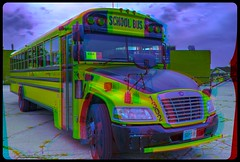 Niagara School Bus 3-D / Anaglyph / Stereoscopy / HDR / Raw (Stereotron) Tags: niagara schoolbus north america canada province ontario quietearth streetphotography urban anaglyph anaglyph3d redcyan redgreen optimized anaglyphic anabuilder 3d 3dphoto 3dstereo 3rddimension spatial stereo stereo3d stereophoto stereophotography stereoscopic stereoscopy stereotron threedimensional stereoview stereophotomaker stereophotograph 3dpicture 3dglasses 3dimage twin canon eos 550d yongnuo radio transmitter remote control synchron in synch kitlens 1855mm tonemapping hdr hdri raw 3dframe fancyframe floatingwindow spatialframe stereowindow window