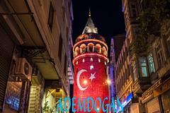 GALATA TRK BAYRAKLI [Galata with Laser] (01dgn) Tags: trkiye turkey lasershow trkbayrak galata galatakulesi galatatower istanbul night red