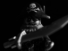 Zombie Pirate (RandomIbis2k12) Tags: lego pirate zombie low key olympus 1250mm macro
