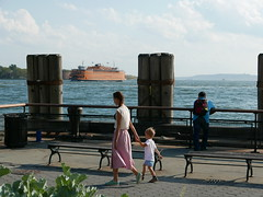 Mother and son (Joakim.Westerlund) Tags: nyc manhattan staten island ferry battery park