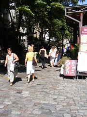 Skadarlija - Belgrade August 2016 (seanfderry-studenna) Tags: ulica skarlija beograd gelgrade cobbled street artisan area arts crafts tourism tourist cafes bars restaurants eating places tours visitors vacation holiday attraction city old historic character serbia serb srbija republic balkan balkans europe european capital people persons candid public outdoor outside   republika buildings architecture history culture quirky artsie pedestrian summer sun sunhine shade shadows august 2016 nina walking