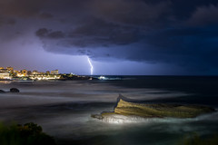 Lightning on Biarritz (Romain Archimbaud) Tags: clairs longexposure paysage ocean basquecountry nature biarritz lightning seascape orages storm poselongue paysbasque