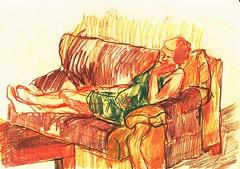 PROYECTO 132-47 (GARGABLE) Tags: angelbeltrn apuntes sketch lpicesdecolores drawings proyecto 132 64 todo varios variado dibujos gargable playa gente siesta sanjuan