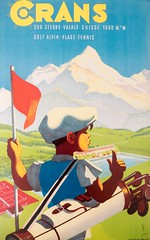 Crans sur Sierre - Martin Peikert Tourism Travel Poster Exhibition, Kunsthaus Zug, Switzerland (jag9889) Tags: jag9889 exhibition 2016 art cantonzug alps martinpeikert switzerland club outdoor 20160801 golf boy indoor zug tennis sierre lithograph poster text travel museum cransmontana mountain cantonvalais europe advertising tourism swimmingpool artdeco